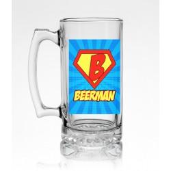 Стъклена халба за бира - Beerman