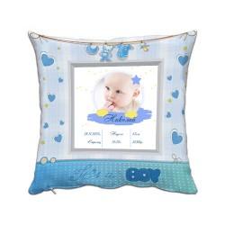 Възглавница бебешка визитка за момче