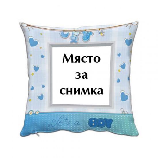Възглавница със снимка - It`s a BOY