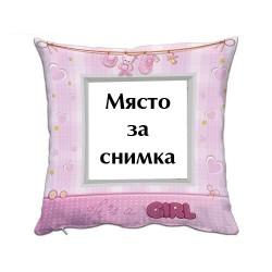 Възглавница със снимка - It`s a Girl