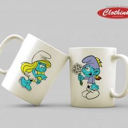 Чаши за влюбени - Smurf & Smurfette