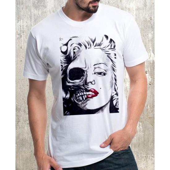 Мъжка тениска - Marilyn Monroe Skull