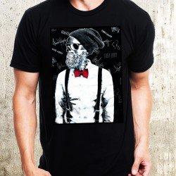 Мъжка тениска - Hipster Skull