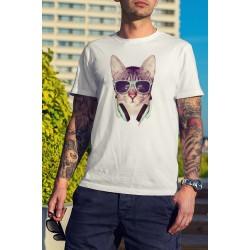 Мъжка тениска Vintage Cat