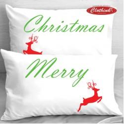 Калъфки за влюбени двойки - Merry Christmas