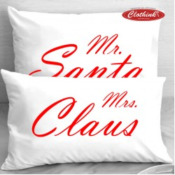 Калъфки за влюбени двойки - Santa Mrs. Claus
