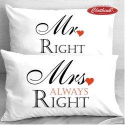 Калъфки за влюбени двойки - Mr Right & Mrs Always Right