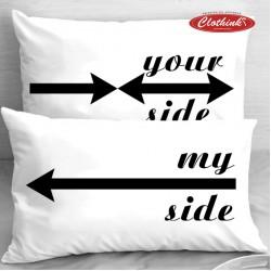 Калъфки за влюбени двойки - My Side --> Your Side