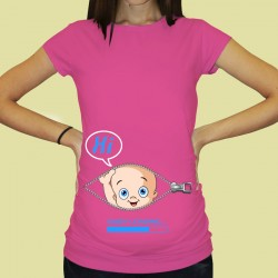 Дамска тениска с щампа за бременни - 62