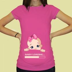 Дамска тениска с щампа за бременни - 63