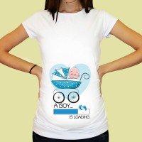Дамска тениска с щампа за бременни - 23