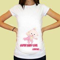 Дамска тениска с щампа за бременни - 27