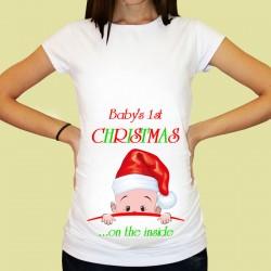 Дамска тениска с щампа за бременни - 31