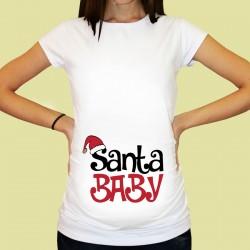 Дамска тениска с щампа за бременни - 36