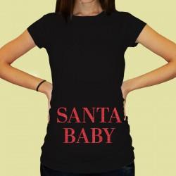 Дамска тениска с щампа за бременни - 37