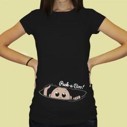 Дамска тениска с щампа за бременни - 42