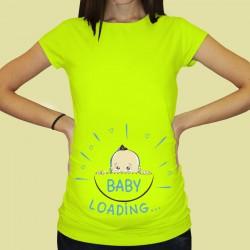 Дамска тениска с щампа за бременни - 50