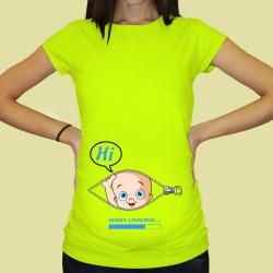 Дамска тениска с щампа за бременни - 51