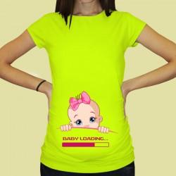 Дамска тениска с щампа за бременни - 52