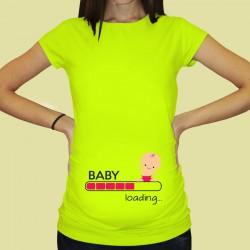 Дамска тениска с щампа за бременни - 54