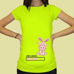 Дамска тениска с щампа за бременни - 55