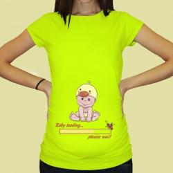 Дамска тениска с щампа за бременни - 56