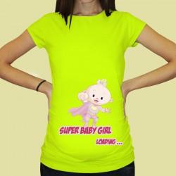 Дамска тениска с щампа за бременни - 57