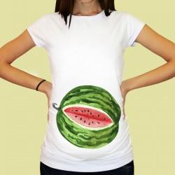 Дамска тениска с щампа за бременни - 70