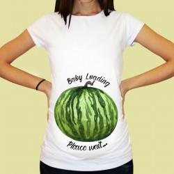 Дамска тениска с щампа за бременни - 71