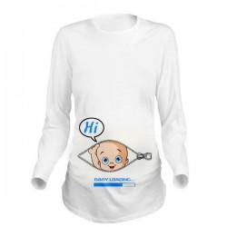 Дамска блуза с щампа за бременни - 10