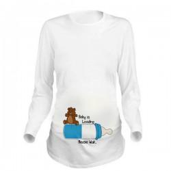 Дамска блуза с щампа за бременни - 11