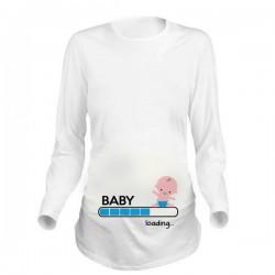 Дамска блуза с щампа за бременни - 12