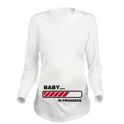 Дамска блуза с щампа за бременни - 19