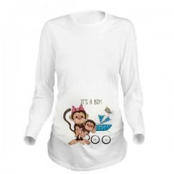 Дамска блуза с щампа за бременни - 23