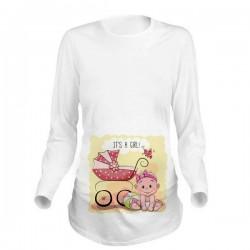 Дамска блуза с щампа за бременни - 24