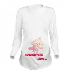 Дамска блуза с щампа за бременни - 25