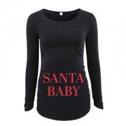 Дамска блуза с щампа за бременни - 35