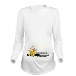Дамска блуза с щампа за бременни - 06