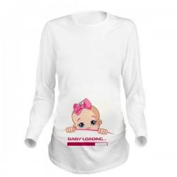 Дамска блуза с щампа за бременни - 09