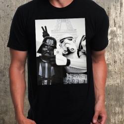 Мъжка тениска - Stormtrooper And Darth Vader Selfie