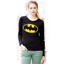 Черна дамска блуза - BATMAN