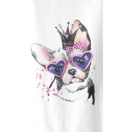 Дамска ватирана блуза - PINK DOG