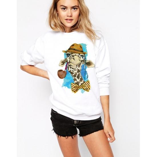 Дамска ватирана блуза - GIRAFFE