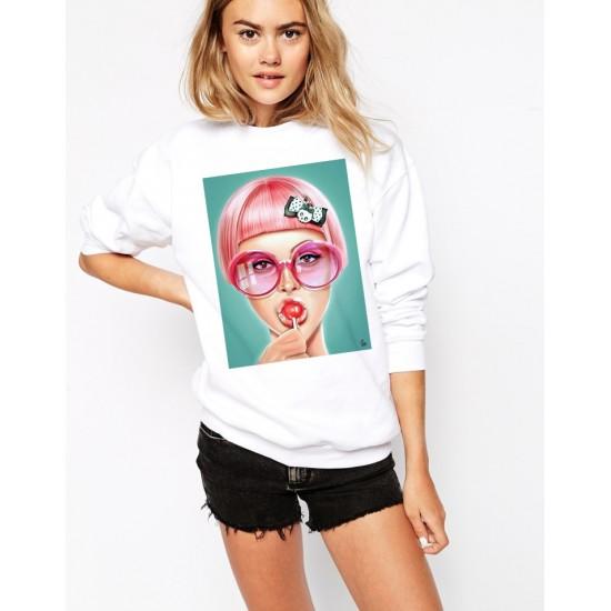 Дамска ватирана блуза - LOLLIPOP