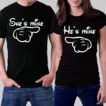 Комплект тениски за влюбени - She`s mine & He`s mine
