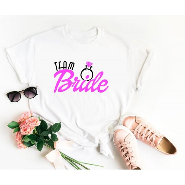 Тениска за моминско парти - Team Bride Ring