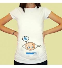 Дамска тениска с щампа за бременни - 10