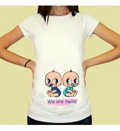 Дамска тениска с щампа за бременни - 11