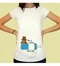 Дамска тениска с щампа за бременни - 12