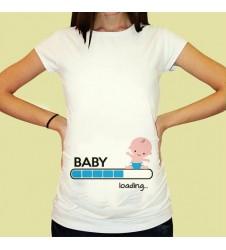 Дамска тениска с щампа за бременни - 13